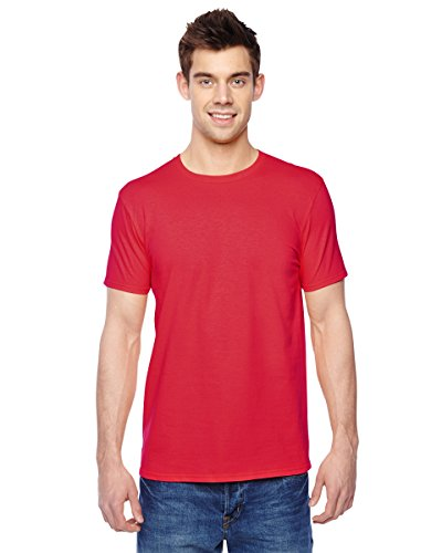 Fruit of the Loom Mens Cotton Jersey Crew T-Shirt (SF45R) Fiery red XL