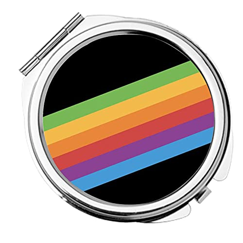 Compatible with Make-Up Mirror Have with Black Rainbow for Man Funny Metal