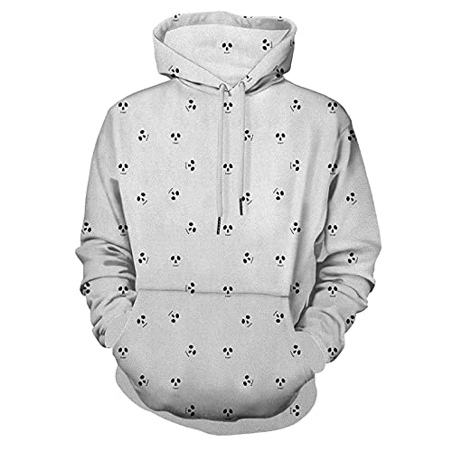 Fashion Hoodie Hooded Skull Artistic Design Backdrop with Minimalistic Features