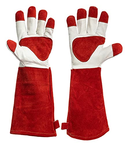 HereToGear Leather Gardening Gloves for Men and Women Working in the Garden - Large Size- Padded...