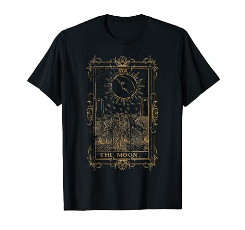 Goth Clothing Tarot Card The Moon Witchy Occult Clothes T-Shirt