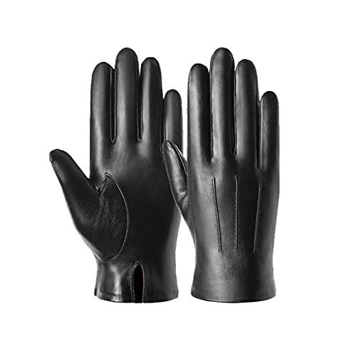 DSJMUY Men's Touchscreen Genuine Leather Gloves-Winter Warm Soft Wool Lining Mittens 100% Leather...