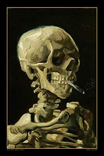 Skull with Cigarette - 1885 by Vincent Van Gogh - Art Poster 24in x 36in