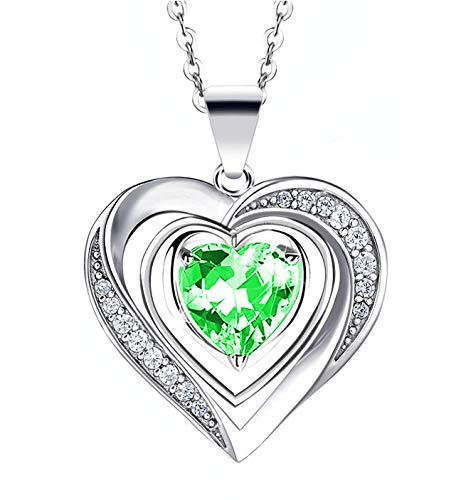 Hantaostyle Love Heart Pendant Necklaces for Women Crystals Christmas Jewelry Gifts for Women...