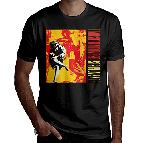 udokljo G-UNS N' R-oses Use Your Illusion I Men's Round Neck Short Sleeve Comfort Cotton T Shirts...