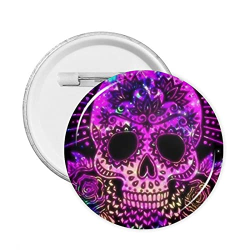 Skulls Round Badge Pin Button Decoration for Clothes Bags Hats Or Party Supplies