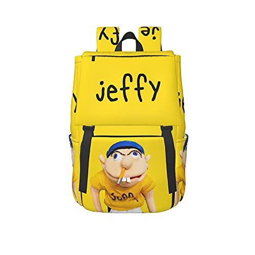 Jeff-Y-Sm -L Casual 16.5 Inch Flapover Rucksack Laptop Backpack Student Business Knapsack
