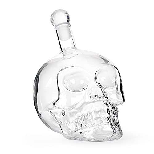 Whiskey Decanter and Glass Set 100% Lead-Free Crystal Bar Set Prefer Skull Wine Container Vodka...