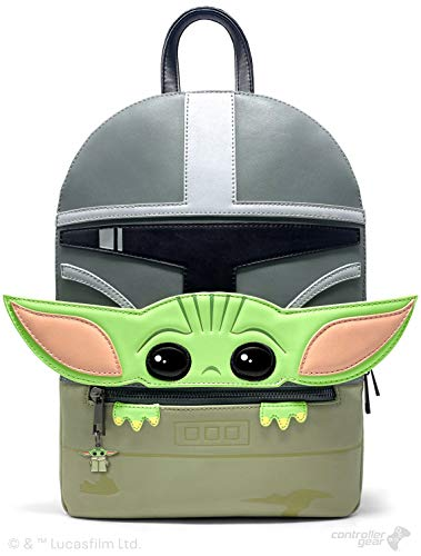 Controller Gear Baby Yoda Backpack Gifts- Official Disney Star Wars: The Mandalorian-Mandalorian and...