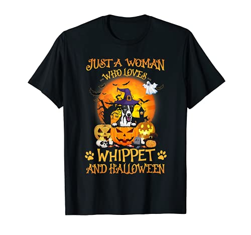 Funny Whippet Dog Halloween Costume Witch For Men Women Kids T-Shirt