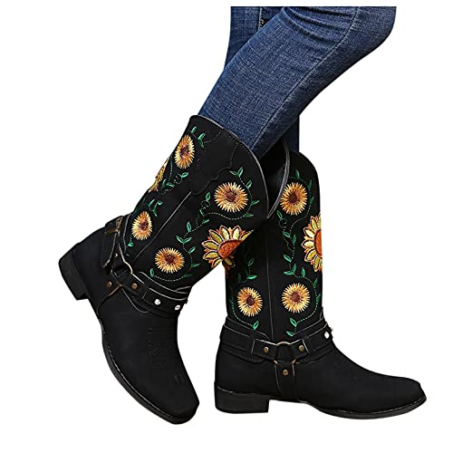 NIMIZIA Womens Ankle Boots, Lace Up Zipper Punk Mid Heel Platform Gothic Combat Wedge Studded Boots...