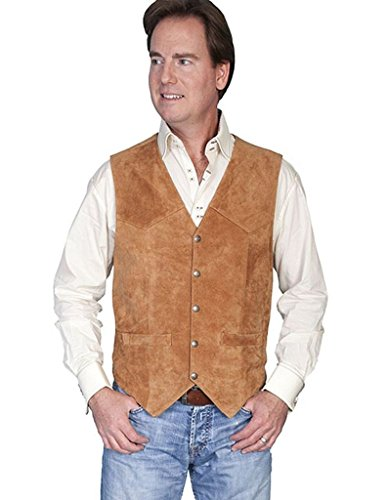 Scully Rugged Calf Suede Vest Rust 2XL