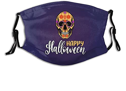 Halloween Face Mask Scarf, Cloth Masks Balaclava Comfortable Breathable Reusable with 2pcs Filters...