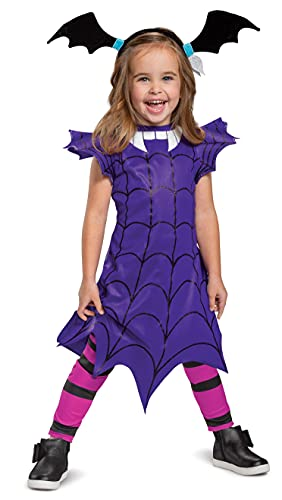 Disguise Vampirina Ghoul Girl Toddler Costume (Toddler (3T-4T), Classic With Leggings)