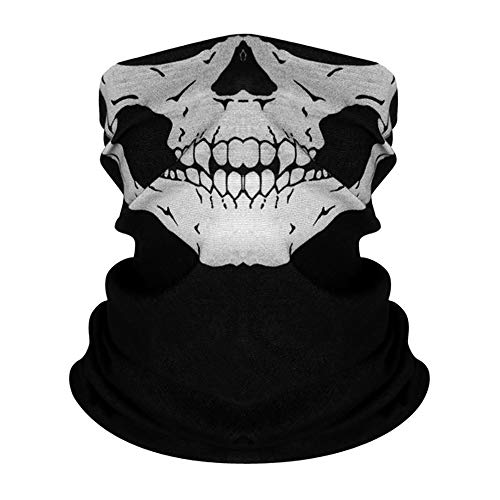 AKUDY Seamless Face Mask Covering Bandanas Women Men for Dust Wind Sun Protection, Skeleton Face...