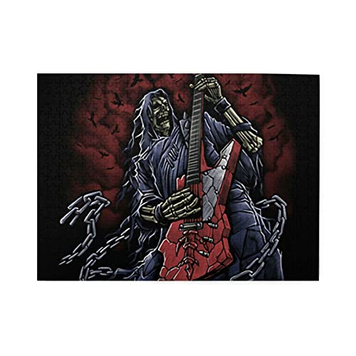 Grim Reaper Skull Jigsaw Puzzles500 Pieces Jigsaw Puzzle for Adults Kids 3D Best Gift for Birthday...