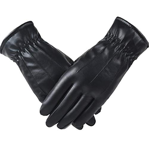 Mllkcao Women Plus Velvet Lether Thickening Gloves Cold Weather Gloves with Warm Dual Mitts