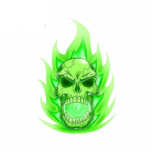 13cmx9.2cm for Soul Skull Car Stickers Vinyl Material Decal Waterproof Sunscreen Car Stickers
