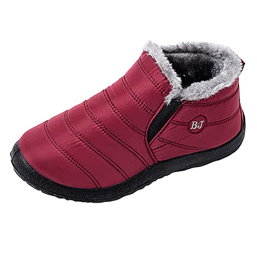 Warm Fur Lined Snow Boots For Women Winter New Women's Ankle Bootie Fashion Casual Anti-Slip Ankle...