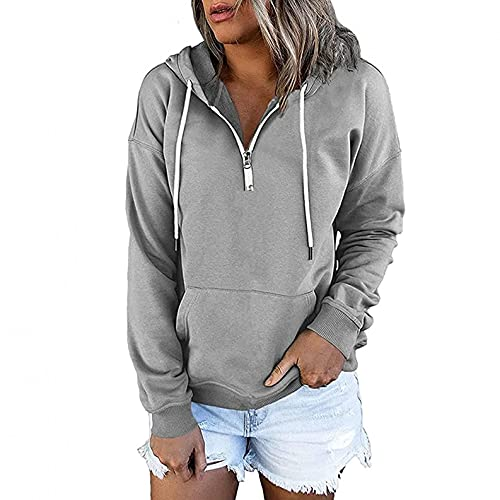 Hoodies for Women Pullover, Women Hoodies Tops Solid Color Casual Long Sleeve Drawstring Oversized...