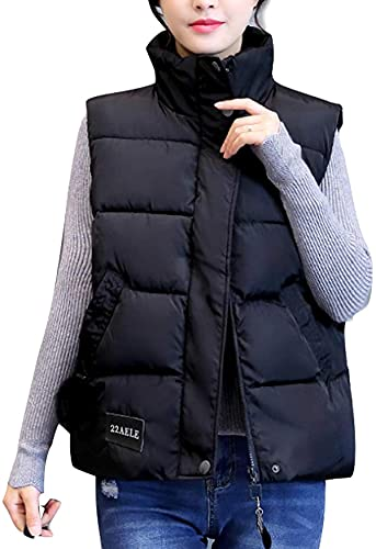 Women's Winter Quilted Padded Sleeveless Vest Outwear Jacket