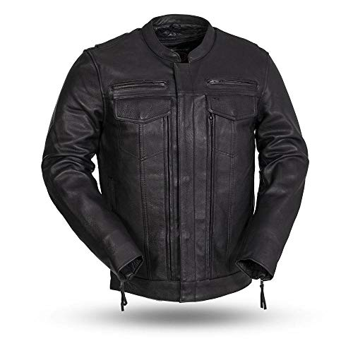 First MFG Co.- Raider - Men's Motorcycle Leather Jacket |Men's Leather Jacket for Ridding