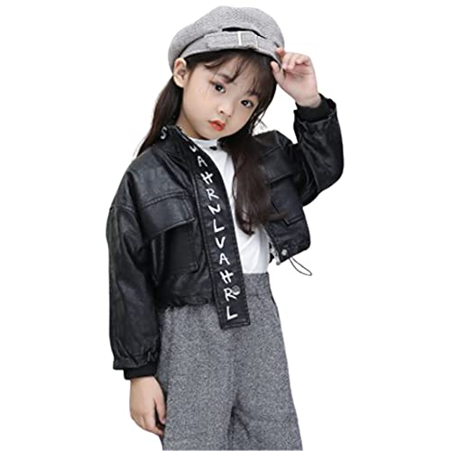WYKDL Child Fashion Graffiti Lightweight Faux Leather,Jacket with Motorcycle Casual Coat,Sports...