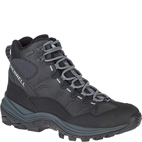 Merrell Men's Thermo Chill Mid Waterproof Snow Boot, Black, 9 Wide