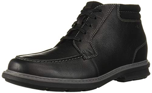 Clarks Men's Rendell Rise Ankle Boot, Black Leather, 100 M US