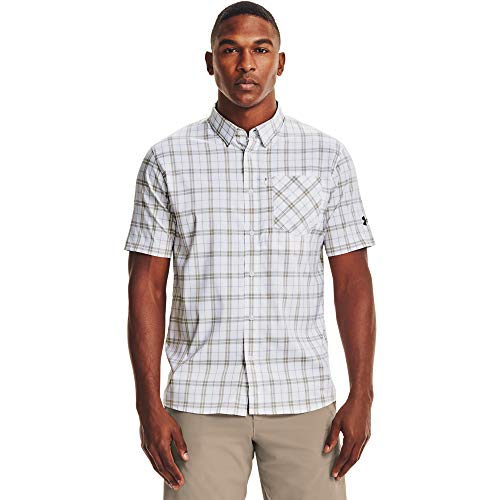 Under Armour Men's High Tide Plaid Short-Sleeve T-Shirt , White (102)/Victory Green , XX-Large