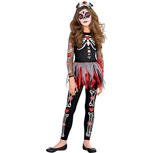 amscan Girls Scared to The Bone Costume - Large, Multicolor
