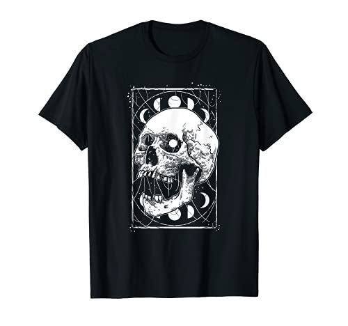 Skull Moon Phases Pastel Goth Gothic Occult Wicca Men Women T-Shirt