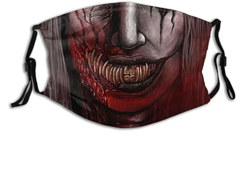 Halloween Face Mask Scarf Funny Cloth Masks Balaclava Reusable Breathable with 2pcs Filters for...