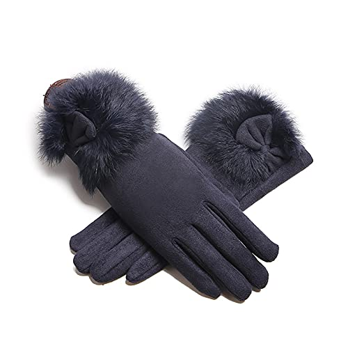 YouBoom Outdoor Riding Gloves,Thickened Winter Gloves,Warm Plush Touch Screen Gloves,Dark Blue