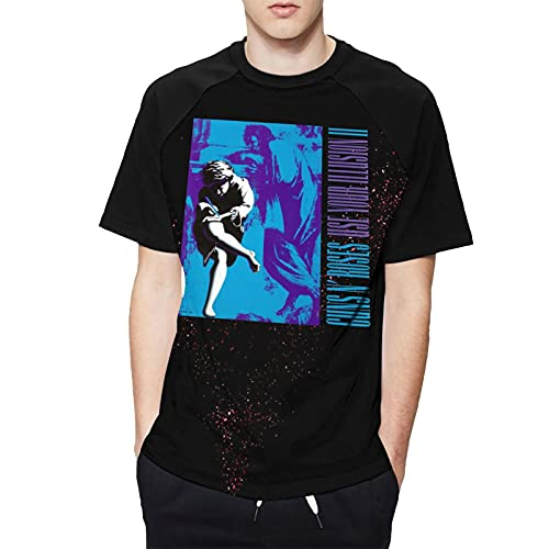 G-UNS N' R-oses - Use Your Illusion II Mens Round Neck Short Sleeve Tops Cartoon Baseball T Shirt...