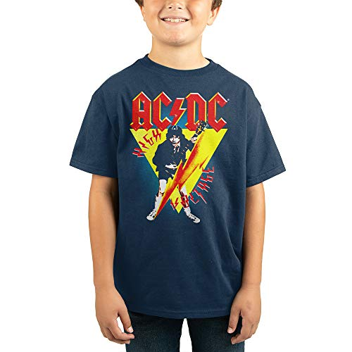 ACDC Rock Band Youth Boys Short Sleeve Shirt-Small