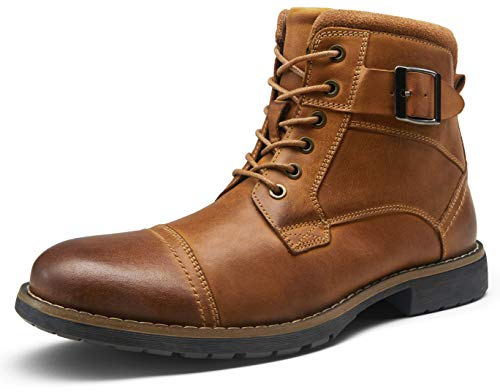 VOSTEY Men's Boots Leather Boots for Men Casual Dress Oxford Combat Boots Mens Ankle Boots(BMY8001...