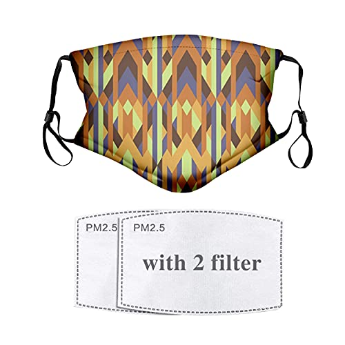 Geometric Pattern with Retro Style Inspired by Artistic Intricacy of Gothic Era Face Mask Reusable...