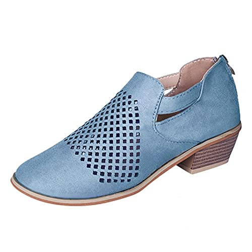Gyouanime Shoes Womens All Season Flat Pumps Casual Booties Breathable Comfy Non-Slip Hollow Ankle...