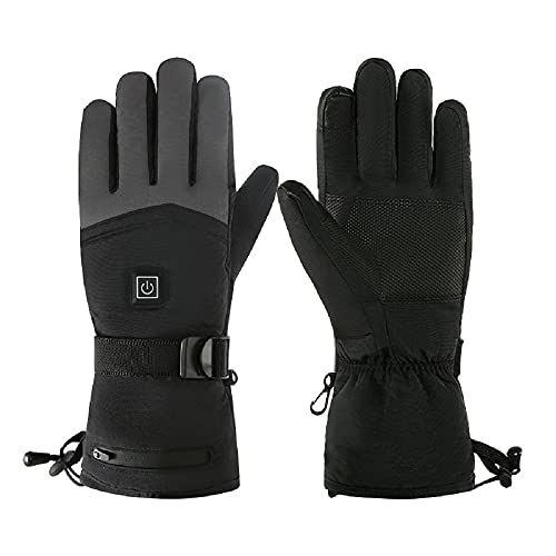Men and Women Heating Gloves for Outdoor Skiing and Riding Thickened Electric Heating Gloves Touch...