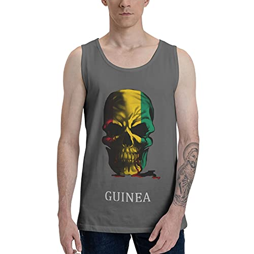 CZASG Guinea Flag Skull Men's Compression Shirt Weight Loss Body Shaping Vest Fitness Vest Sports...