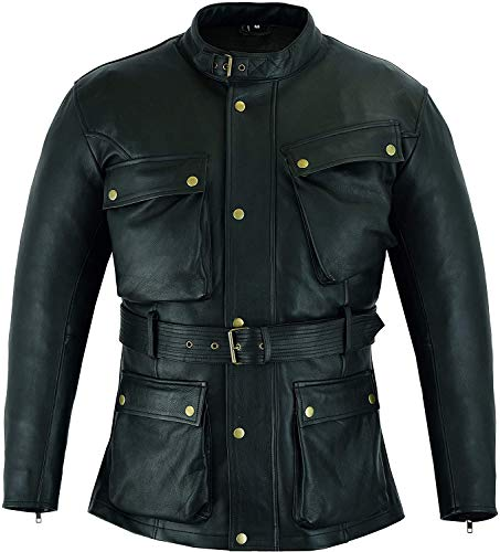 Warrior Gears Nappa Cowhide Leather Jackets for Men Motorcycle CE Armours - 11XL