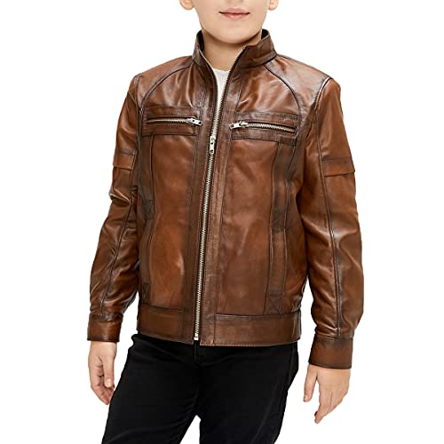 Xtreem Leather Jacket For Boy's - Classic Kid's Motorcycle Genuine Leather Jacket