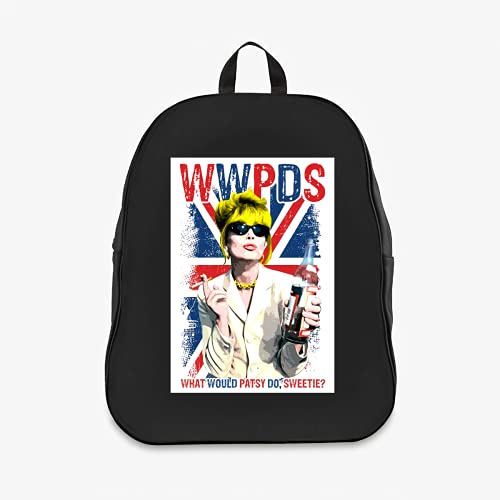 What Would Patsy Do Sweetie Ab Fab Absolutely Fabulous Patsy Stone White Black Custom Backpack 7003