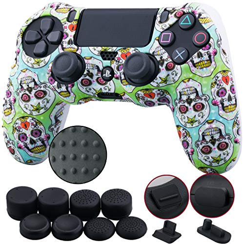 9CDeer 1 Piece of Silicone Studded Water Transfer Protective Sleeve Case Cover Skin + 8 Thumb Grips...