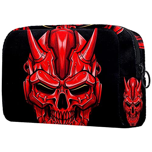 Soft Cosmetic Bag for Women Robot Skull Adorable Roomy Makeup Bags Travel Toiletry Bag Accessories...