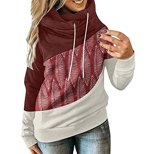 INESVER Womens Loose Casual Drawstring Hooded Trendy Long Sleeve Blouse Tee Shirt Plus Size Pullover...