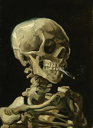 Palace Learning Vincent Van Gogh (Skull with Cigarette, 1885) Art Poster Print - 18 x 24 Laminated -...