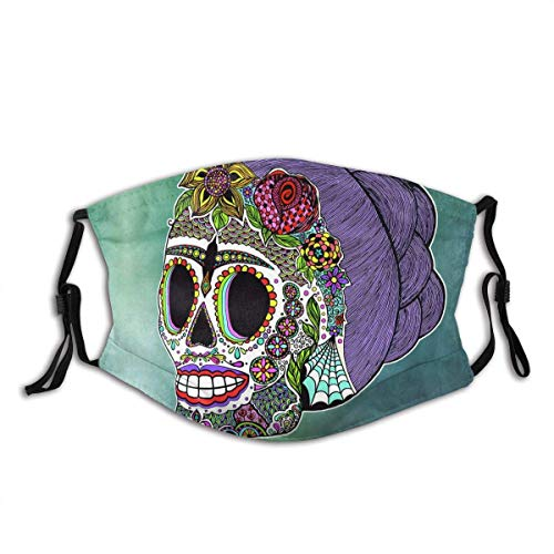 Creative Sugar Skull (30) Design Face Mask Comfortable Reusable And Adjustable Adult Anti Dust Mouth...
