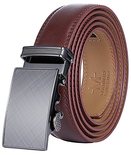 Marino Men's Genuine Leather Ratchet Dress Belt With Automatic Buckle, Enclosed in an Elegant Gift...